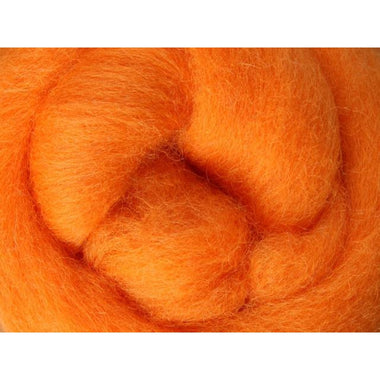 Paradise Fibers Ashford Solid Colored Corriedale Sliver - 2.2lb bag - Tangerine - 1