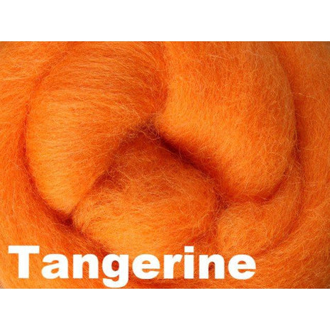 Paradise Fibers Fiber Ashford Solid Colored Corriedale Sliver (4oz bag) Tangerine 48 / 4oz - 48