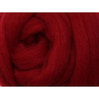 Paradise Fibers Ashford Solid Colored Corriedale Sliver - 2.2lb bag - Cherry Red - 1