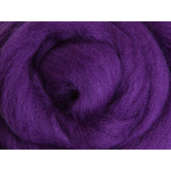Paradise Fibers Ashford Solid Colored Corriedale Sliver - 2.2lb bag - Amethyst - 1