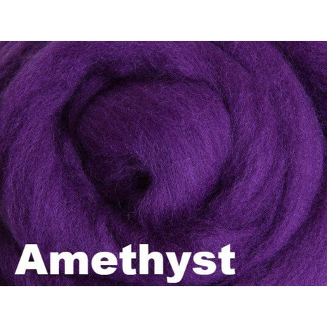 Paradise Fibers Fiber Ashford Solid Colored Corriedale Sliver (4oz bag) Amethyst 50 / 4oz - 50