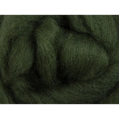 Paradise Fibers Ashford Solid Colored Corriedale Sliver - 2.2lb bag - Fern Green - 1
