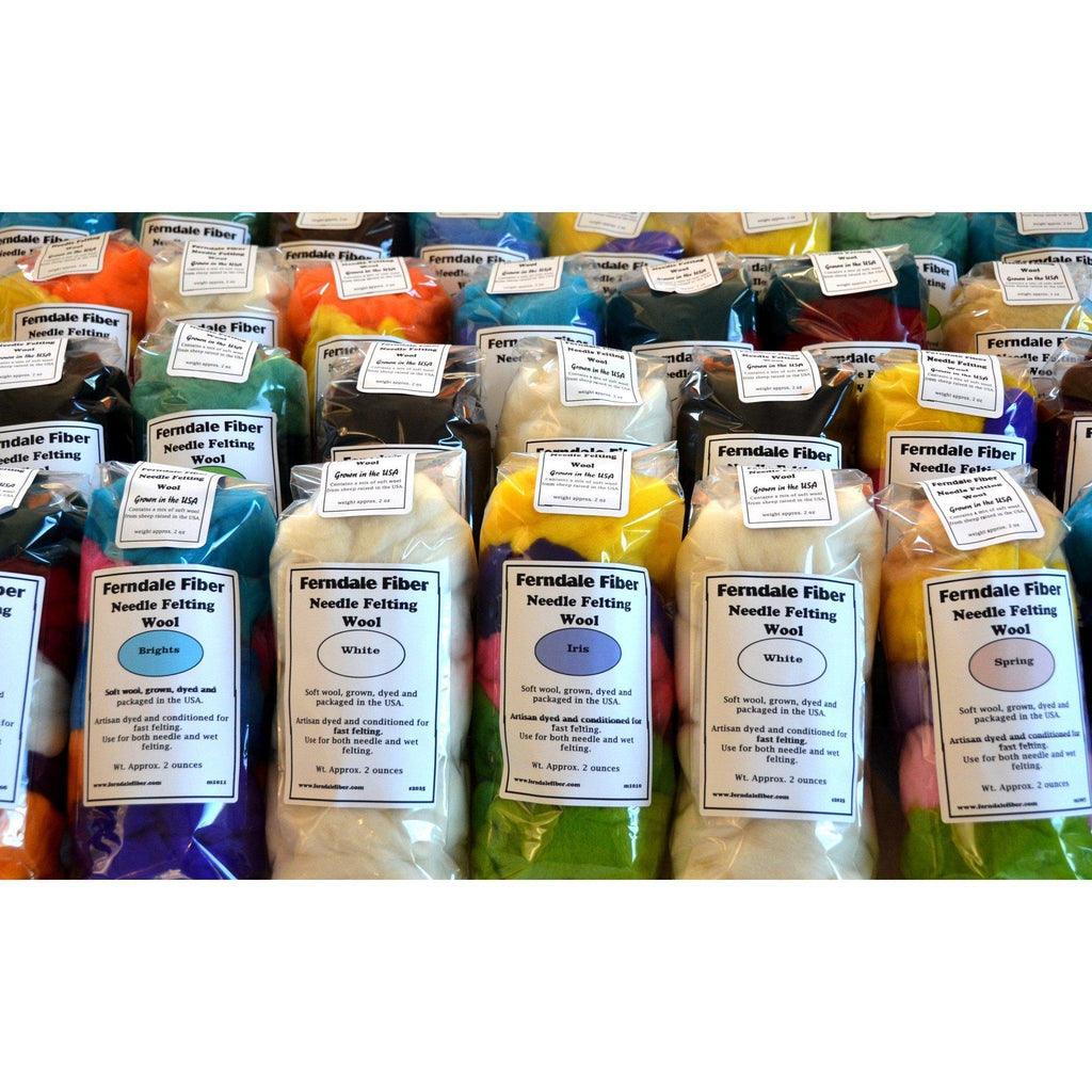 Ferndale Fiber Needle Felting Wool Multi Color Packs  - 1