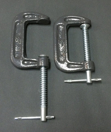 C Clamps -Pair- For Comb Holder and/or Hackle  - 1