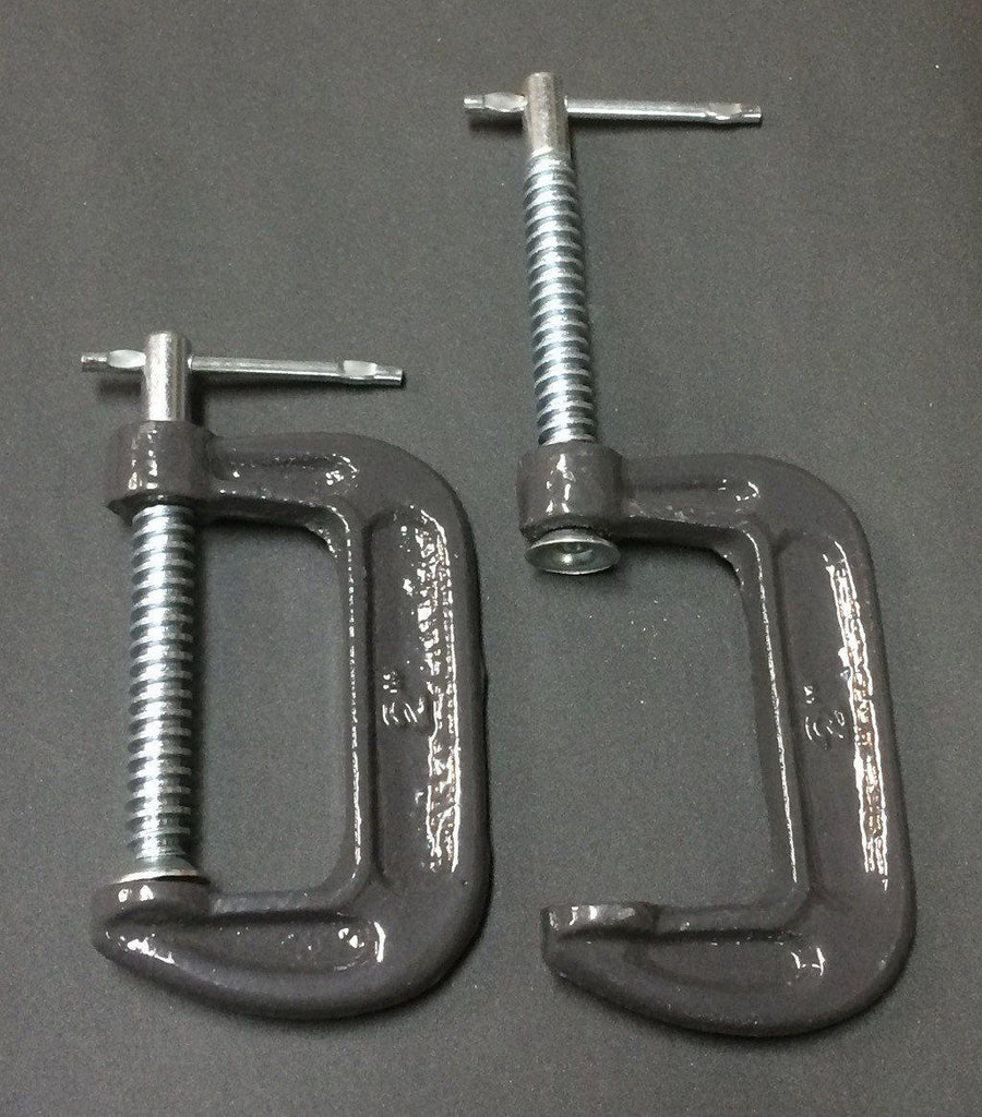 C Clamps -Pair- For Comb Holder and/or Hackle  - 3