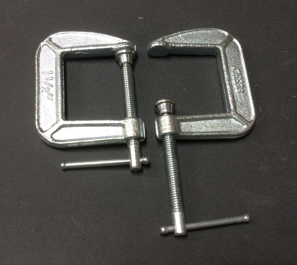 C Clamps -Pair- For Comb Holder and/or Hackle  - 8