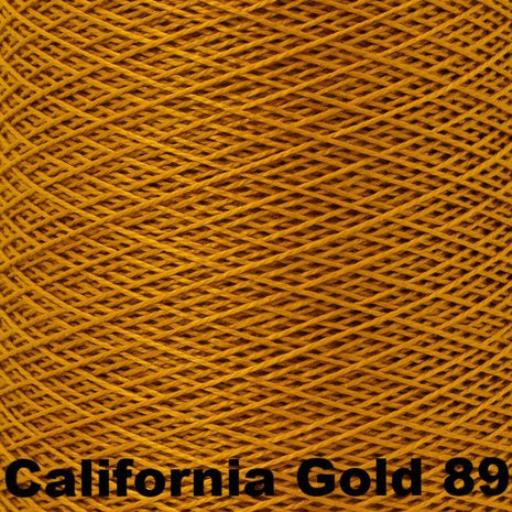 10/2 Perle Cotton 1lb Cones California Gold 89 - 14