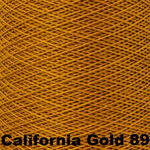 3/2 Mercerized Perle Cotton-Weaving Cones-California Gold 89-