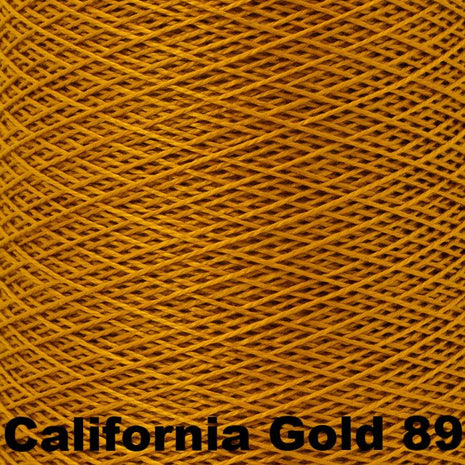 5/2 Perle Cotton 1lb Cones California Gold 89 - 14