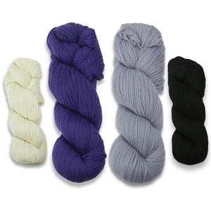 Baa-ble Mittens and Cowl Kit in Cascade 220-Kits-Amewethyst Skies-