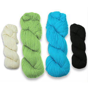 Baa-ble Mittens and Cowl Kit in Cascade 220-Kits-Bewetiful Brights-