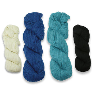 Baa-ble Mittens and Cowl Kit in Cascade 220-Kits-Hillside Blewes-