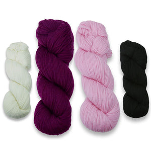 Baa-ble Mittens and Cowl Kit in Cascade 220-Kits-Pewety in Pink-