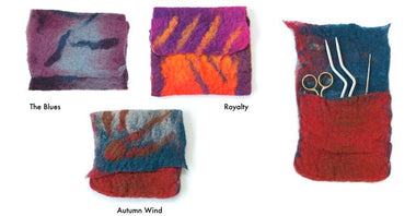 Artfelt Mini Catch-all Felting Kit-Kits-Artfelt-The Blues-Paradise Fibers