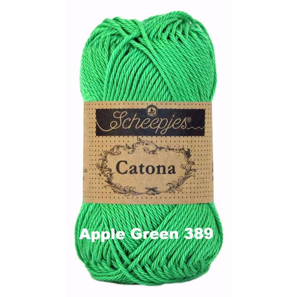 Scheepjes Catona 50g Yarn Apple Green 389 - 59