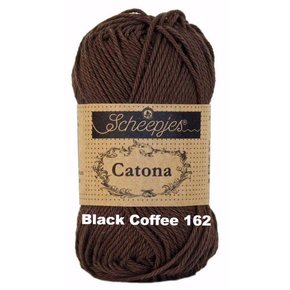 Scheepjes Catona 50g Yarn Black Coffee 162 - 16