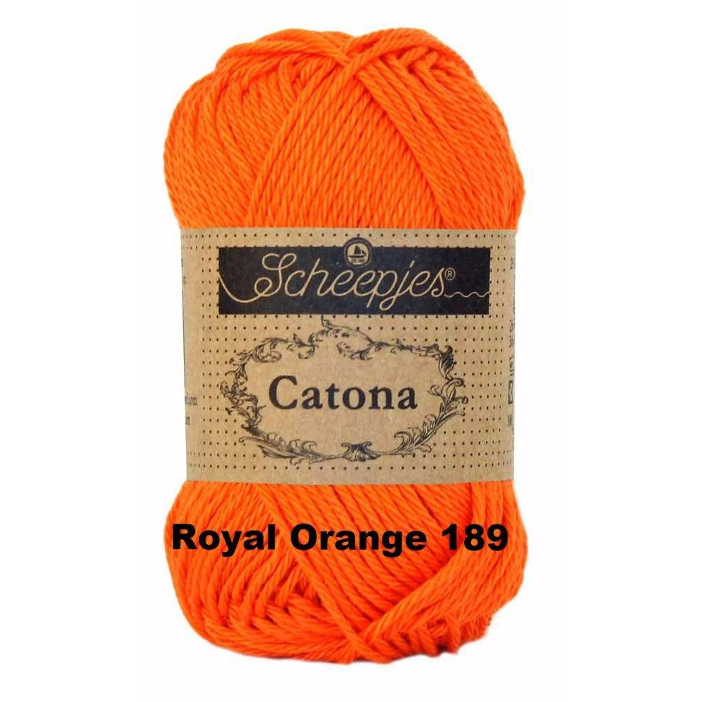 Scheepjes Catona 50g Yarn Royal Orange 189 - 21
