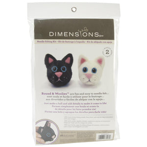 Feltworks Ball Learn Needle Felting Kit - Cats-Needle Felting Kit-