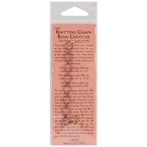 Lacis No Hands Knitting Chain Row Counter-Knitting Accessory-Paradise Fibers
