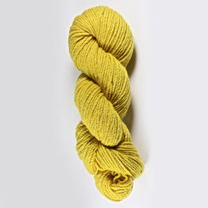 Color Goldenrod. Kettle-Dyed Skein of 100% Wool Yarn From Cestari U.S.A.