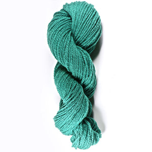 Color Turquoise. Kettle-Dyed Skein of 100% Wool Yarn From Cestari U.S.A.
