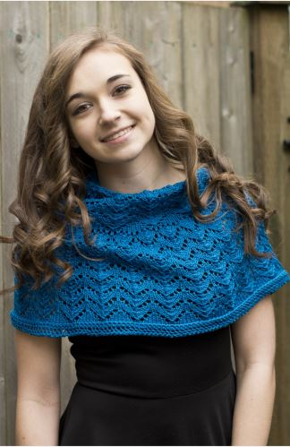 Chelsea Bridge Shawl Pattern featuring Ultra Pima-Patterns-Paradise Fibers