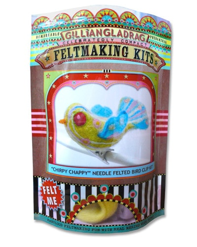 GillianGladrag Chirpy Chappy Needle Felted Bird Clip Kit  - 2