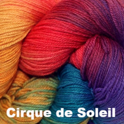 Paradise Fibers Yarn Three Irish Girls Adorn Sock Yarn Cirque de Soleil - 14
