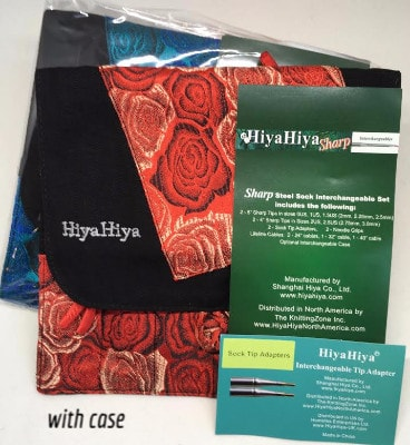 HiyaHiya SHARP Sock Sizes Set Interchangeable Needles sizes US0-US2.5  - 1