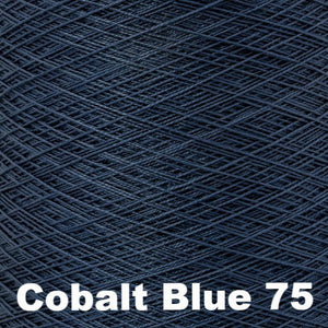 3/2 Mercerized Perle Cotton-Weaving Cones-Cobalt Blue 75-