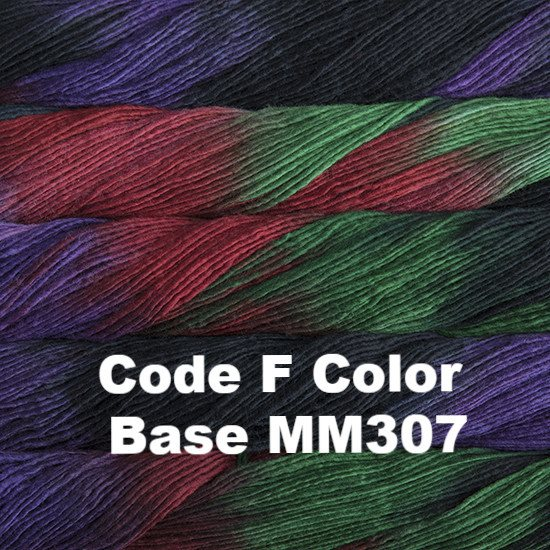 Malabrigo Worsted Yarn Variegated Code F Color Base MM307 - 51