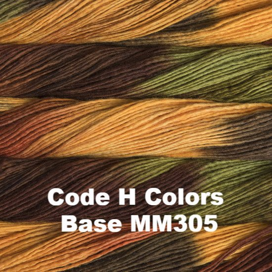 Malabrigo Worsted Yarn Variegated Code G Color Base MM308 - 44