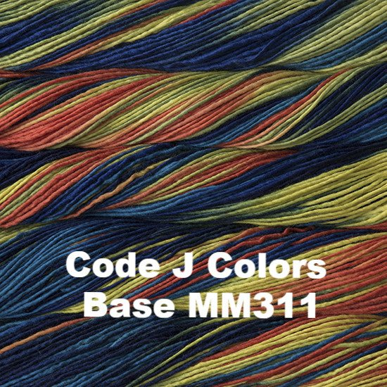 Malabrigo Worsted Yarn Variegated Code J Colors Base MM311 - 46