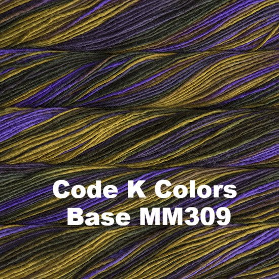 Malabrigo Worsted Yarn Variegated Code K Colors Base MM309 - 47