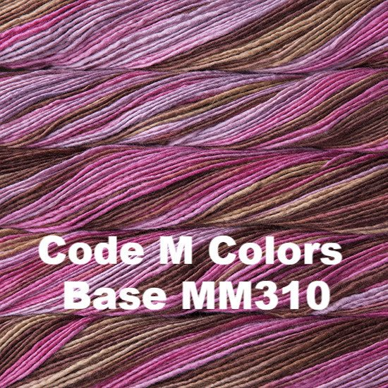 Malabrigo Worsted Yarn Variegated Code M Colors Base MM310 - 53