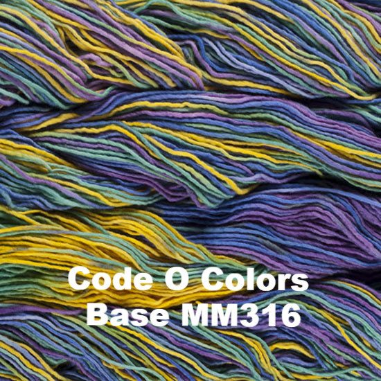 Malabrigo Worsted Yarn Variegated Code O Colors Base MM316 - 54