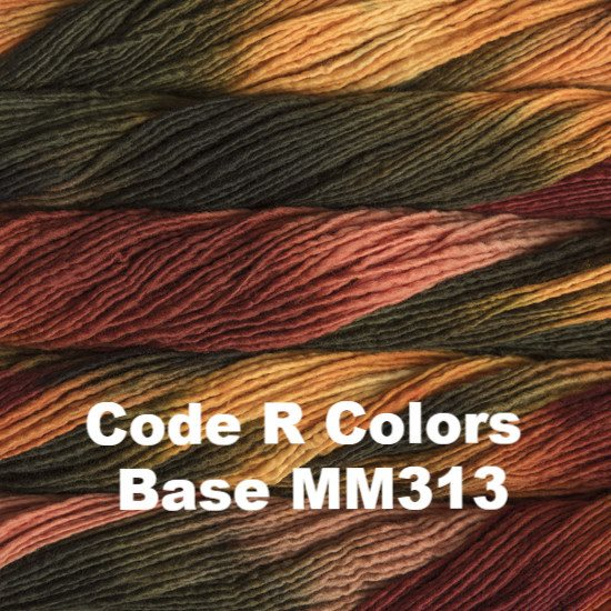 Malabrigo Worsted Yarn Variegated Code R Colors Base MM313 - 49