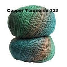 Crystal Palace Mini Mochi Yarn Copper Turquoise 323 - 24