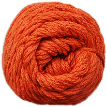Brown Sheep Cotton Fine Yarn (1/2 lb Cone) Wild Orange CW310 - 11