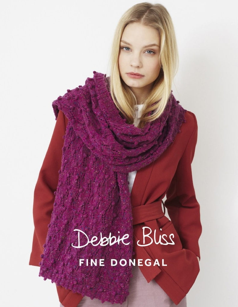 Debbie Bliss Fine Donegal Bobble and Lace Scarf Pattern