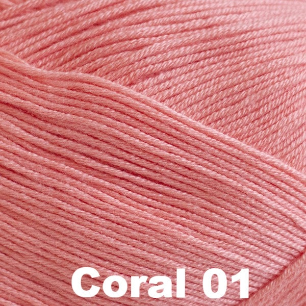 Paradise Fibers Yarn Cascade Sateen Yarn Coral 01 - 4