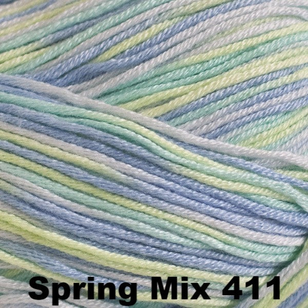 Paradise Fibers Yarn Cascade Sateen Yarn Spring Mix 411 - 13