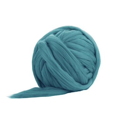 Soft Dyed (Cyan) Merino Jumbo Yarn - 7lb Special for Arm Knitted Blankets