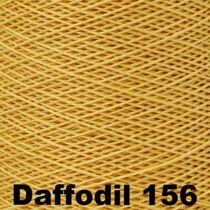 3/2 Mercerized Perle Cotton-Weaving Cones-Daffodil 156-