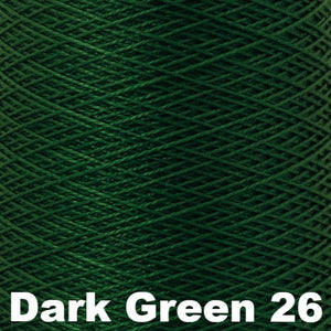 3/2 Mercerized Perle Cotton-Weaving Cones-Dark Green 26-