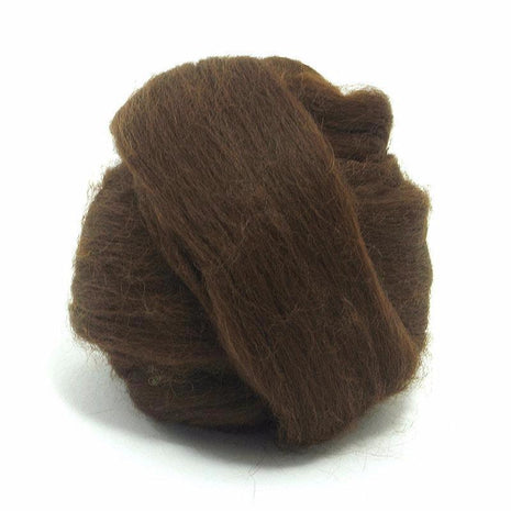 Paradise Fibers Baby Alpaca Roving Dark Brown / 4oz - 3