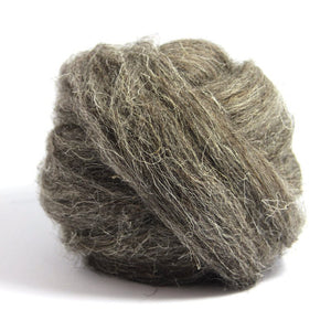 Paradise Fibers Herdwick Wool Roving Dark Grey / 4oz - 1