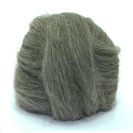 Paradise Fibers Icelandic Wool Roving 4oz / Dark Grey - 4
