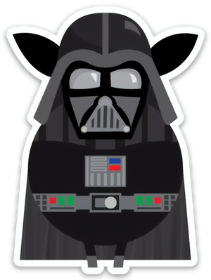 Paradise Fibers Sheep Stickers-Stickers-Darth Vadewe-