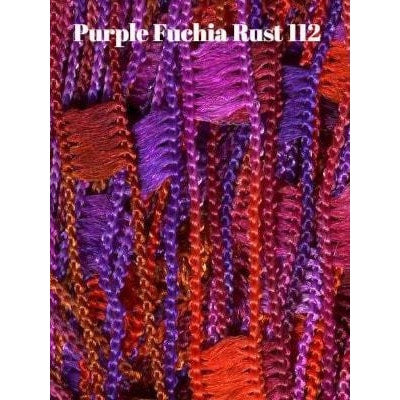 Dazzle Yarn Purples Fuschia and Rust - 8